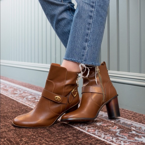 Coach Shoes - *1 DAY PRICE DROP*Coach Moto Leather Heeled Bootie